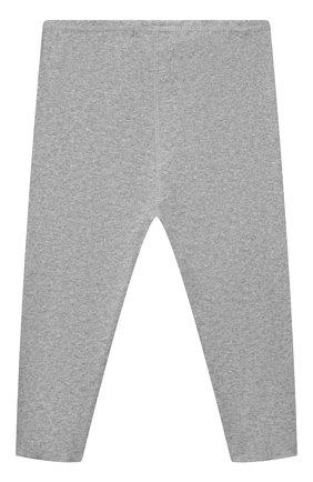 Детские хлопковые леггинсы BONPOINT светло-серого цвета, арт. PEBTI2037CA(092)_850167   Фото 2 (Материал внешний: Хлопок; Ростовка одежда: 12 мес   80 см)
