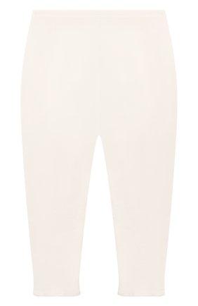 Детские хлопковые леггинсы BONPOINT молочного цвета, арт. PEBTI2037CA(002)_686044   Фото 1 (Материал внешний: Хлопок; Ростовка одежда: 3 мес   62 см)