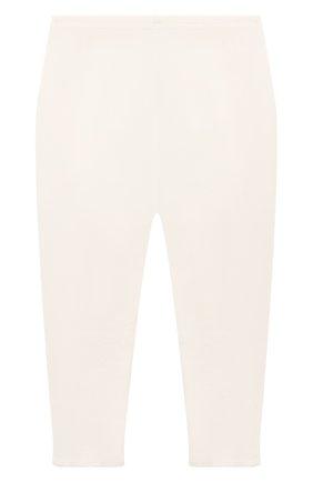 Детские хлопковые леггинсы BONPOINT молочного цвета, арт. PEBTI2037CA(002)_686044   Фото 2 (Материал внешний: Хлопок; Ростовка одежда: 3 мес   62 см)