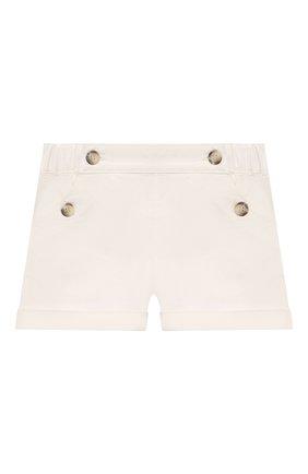 Детские хлопковые шорты BONPOINT белого цвета, арт. S01ZBEWO0502(002)_842874   Фото 1