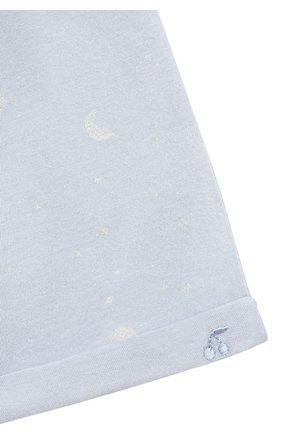 Детского комплект из футболки и шорт BONPOINT голубого цвета, арт. S01YSEKN0201(616)_843061   Фото 7 (Материал внешний: Хлопок; Ростовка одежда: 0 - 3 мес   50 - 60 см)