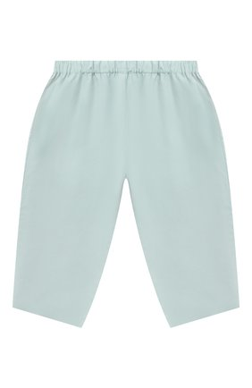 Детские хлопковые брюки BONPOINT бирюзового цвета, арт. S01ZPAWO0301(041C)_842977   Фото 1