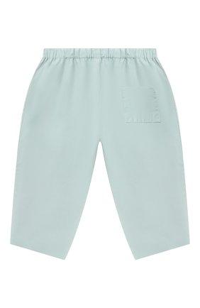 Детские хлопковые брюки BONPOINT бирюзового цвета, арт. S01ZPAWO0301(041C)_842977   Фото 2