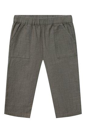 Детские хлопковые брюки BONPOINT хаки цвета, арт. S01ZPAWO0202(046C)_842896   Фото 1