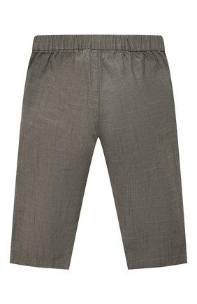 Детские хлопковые брюки BONPOINT хаки цвета, арт. S01ZPAWO0202(046C)_842896   Фото 2
