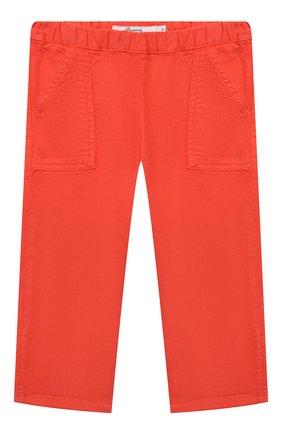 Детские хлопковые брюки BONPOINT красного цвета, арт. S01ZPAWO0201(051D)_842974 | Фото 1 (Материал внешний: Хлопок; Ростовка одежда: 3 мес | 62 см)