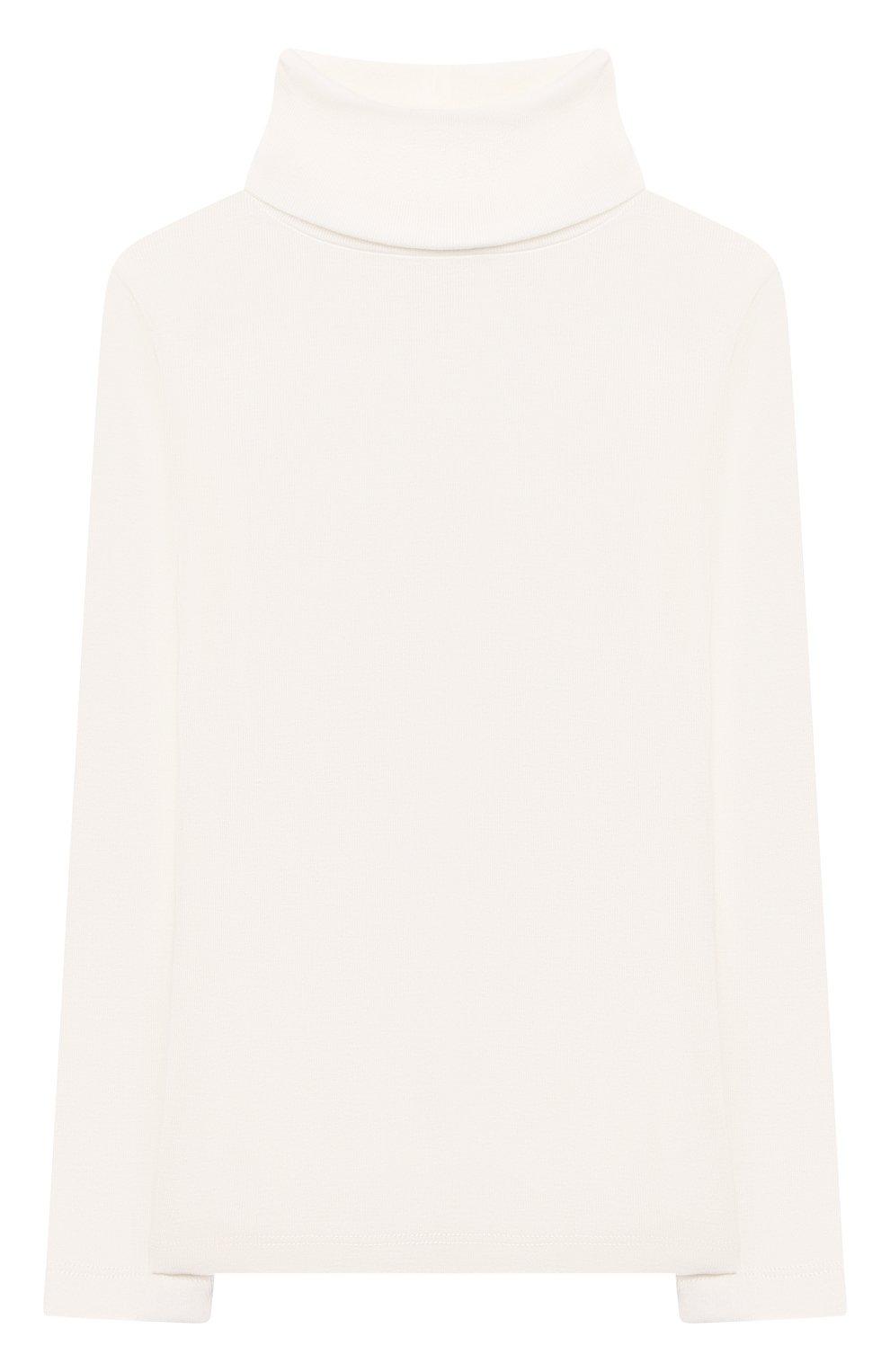 Детская хлопковая водолазка BONPOINT белого цвета, арт. PEBTI3103TE(002)_540157   Фото 1