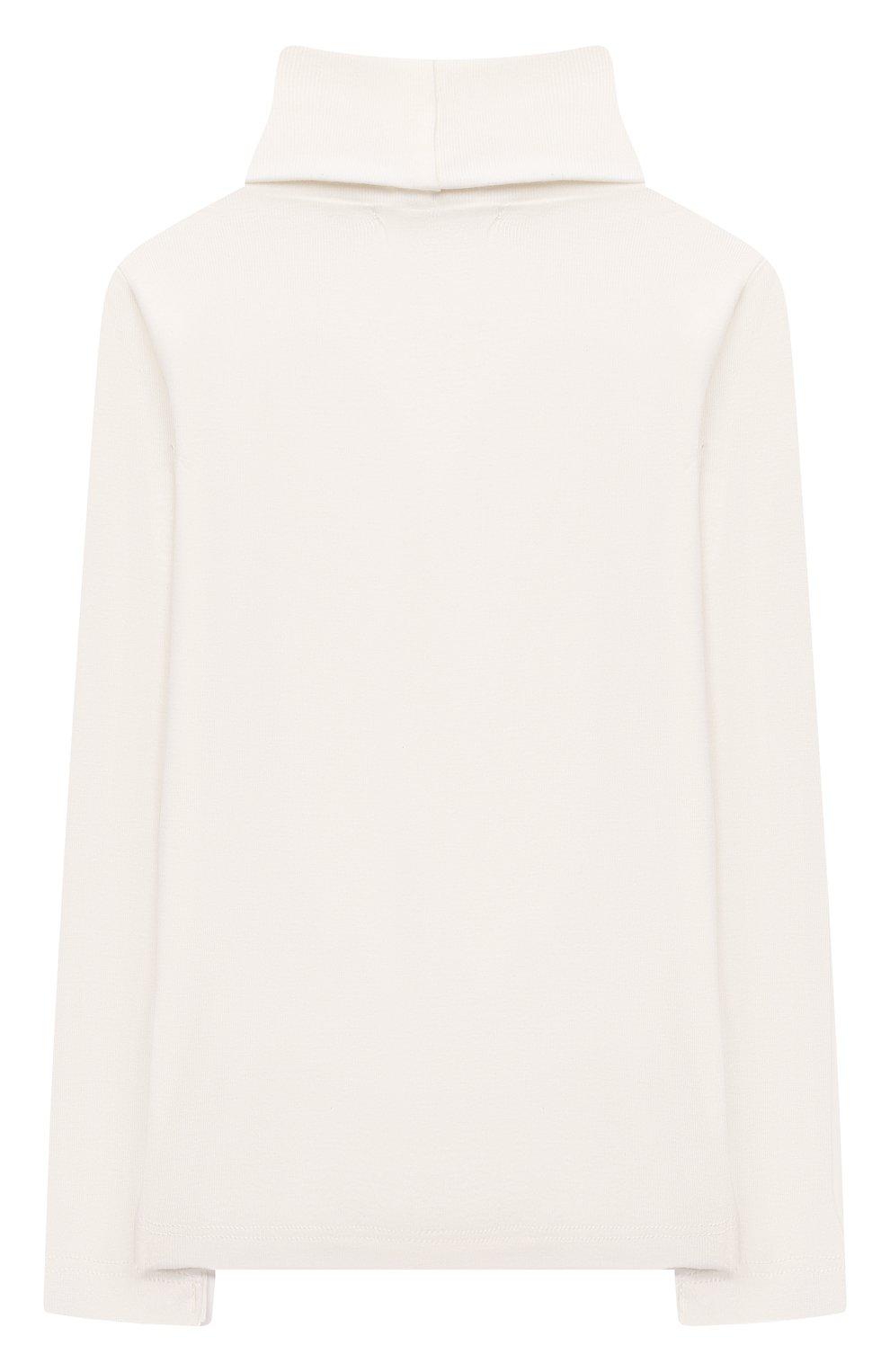 Детская хлопковая водолазка BONPOINT белого цвета, арт. PEBTI3103TE(002)_540157   Фото 2