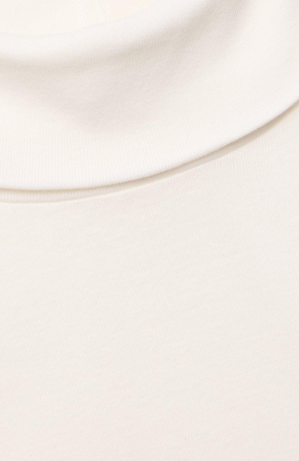 Детская хлопковая водолазка BONPOINT белого цвета, арт. PEBTI3103TE(002)_540157   Фото 3