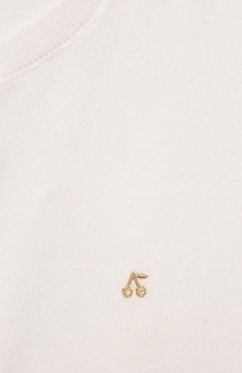 Детский хлопковый кардиган BONPOINT белого цвета, арт. PEBDA3593CA(102)_494367   Фото 3