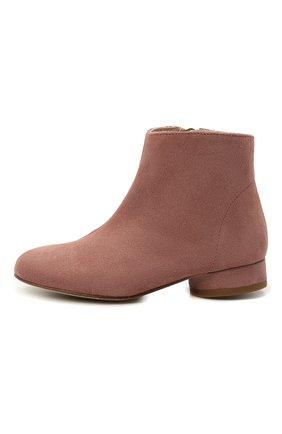 Детские замшевые ботинки BONPOINT розового цвета, арт. H20EFCANDY(020)_825018   Фото 2