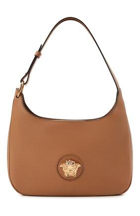 Женская сумка la medusa medium VERSACE бежевого цвета, арт. 1000699/DVIT3T   Фото 1 (Материал: Натуральная кожа; Сумки-технические: Сумки top-handle; Размер: medium)
