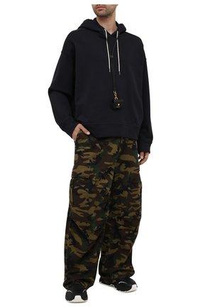 Мужские хлопковые брюки-карго BALENCIAGA хаки цвета, арт. 658907/TKL14 | Фото 2 (Стили: Милитари; Случай: Повседневный; Длина (брюки, джинсы): Стандартные; Материал внешний: Хлопок; Силуэт М (брюки): Карго)