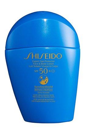 Солнцезащитный лосьон для лица и тела spf50+ SHISEIDO бесцветного цвета, арт. 16235SH | Фото 1