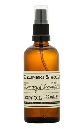 Масло для тела rosemary & lemon, neroli ZIELINSKI&ROZEN бесцветного цвета, арт. 7290018419847 | Фото 1
