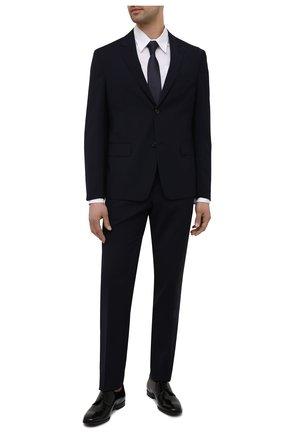 Мужские кожаные дерби PRADA черного цвета, арт. 2EB174-P39-F0002   Фото 2