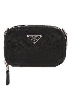 Мужская кожаная сумка PRADA черного цвета, арт. 2TT105-2AHF-F0002 | Фото 1