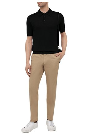 Мужское шерстяное поло PRADA черного цвета, арт. UMA290-C5W-F0002-151   Фото 2