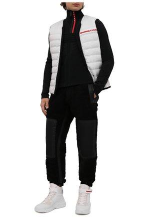 Мужские кожаные кроссовки polarius 19 lr PRADA белого цвета, арт. 4T3535-HEC-F0009 | Фото 2 (Подошва: Массивная; Стили: Гранж)