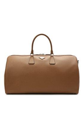 Мужская кожаная дорожная сумка PRADA светло-коричневого цвета, арт. 2VC018-9Z2-F0401-OOO | Фото 1