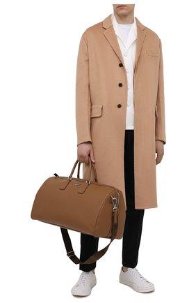 Мужская кожаная дорожная сумка PRADA светло-коричневого цвета, арт. 2VC018-9Z2-F0401-OOO | Фото 2