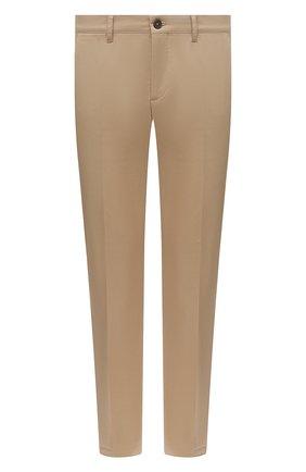 Мужские хлопковые брюки PRADA бежевого цвета, арт. SPE12-1GQS-F0AI2-172 | Фото 1 (Длина (брюки, джинсы): Стандартные; Материал внешний: Хлопок; Случай: Повседневный; Стили: Кэжуэл)