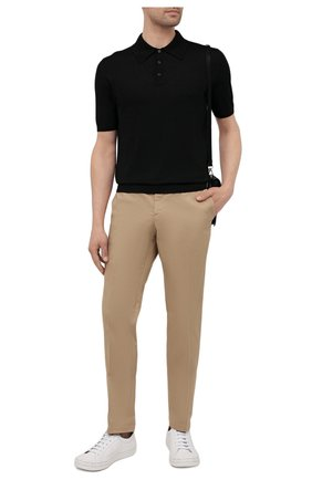 Мужские хлопковые брюки PRADA бежевого цвета, арт. SPE12-1GQS-F0AI2-172 | Фото 2 (Длина (брюки, джинсы): Стандартные; Материал внешний: Хлопок; Случай: Повседневный; Стили: Кэжуэл)