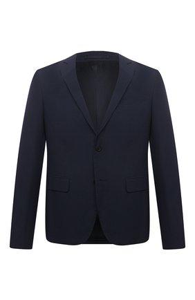 Мужской хлопковый пиджак PRADA синего цвета, арт. SD080-1BJ2-F0ABM-191 | Фото 1