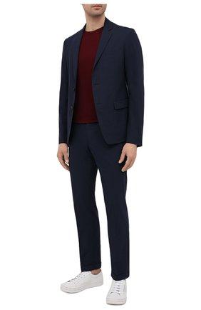 Мужской хлопковый пиджак PRADA синего цвета, арт. SD080-1BJ2-F0ABM-191 | Фото 2