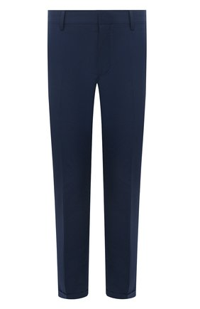 Мужские брюки PRADA синего цвета, арт. SPD91-1S5X-F0216-172 | Фото 1 (Материал внешний: Синтетический материал; Длина (брюки, джинсы): Стандартные; Случай: Повседневный; Стили: Кэжуэл)