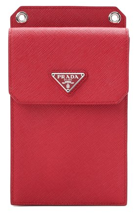 Кожаный чехол для iphone PRADA красного цвета, арт. 2ZH068-053-F068Z | Фото 1