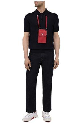 Кожаный чехол для iphone PRADA красного цвета, арт. 2ZH068-053-F068Z | Фото 2