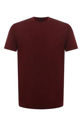 Мужская хлопковая футболка PRADA бордового цвета, арт. UJM564-1UOR-F0399-092 | Фото 1