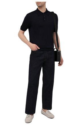 Мужские кожаные мокасины PRADA белого цвета, арт. 2DD164-053-F0K74-U00I | Фото 2