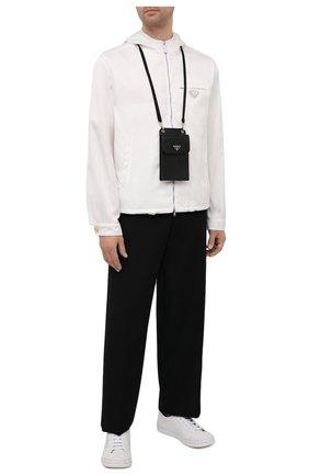 Кожаный чехол для iphone PRADA черного цвета, арт. 2ZH068-053-F0002 | Фото 2