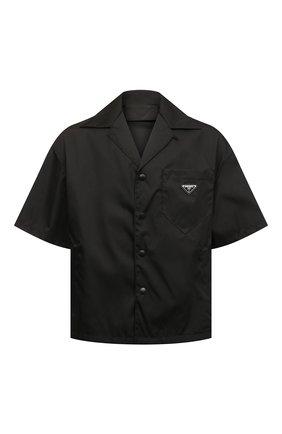 Мужская рубашка PRADA черного цвета, арт. SC449-1WQ8-F0002-182   Фото 1