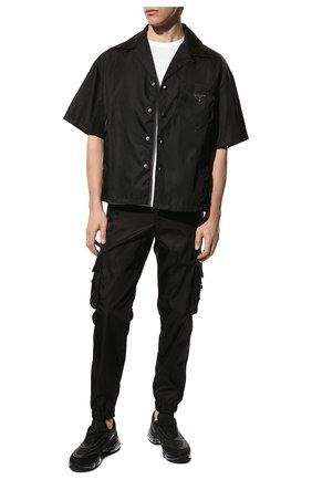 Мужская рубашка PRADA черного цвета, арт. SC449-1WQ8-F0002-182   Фото 2