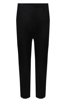 Мужские брюки PRADA черного цвета, арт. SPH66-1WQ8-F0002-202 | Фото 1 (Материал внешний: Синтетический материал; Случай: Повседневный; Стили: Кэжуэл; Длина (брюки, джинсы): Укороченные)