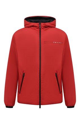 Мужская утепленная куртка PRADA красного цвета, арт. SGB296-1XYW-F0011-192 | Фото 1