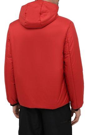 Мужская утепленная куртка PRADA красного цвета, арт. SGB296-1XYW-F0011-192   Фото 4 (Кросс-КТ: Куртка; Мужское Кросс-КТ: пуховик-короткий; Рукава: Длинные; Материал внешний: Синтетический материал; Длина (верхняя одежда): Короткие; Стили: Кэжуэл)