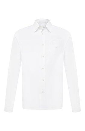Мужская хлопковая рубашка PRADA белого цвета, арт. SC541-1XV2-F0009-211 | Фото 1