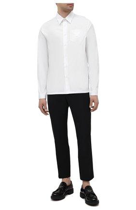 Мужская хлопковая рубашка PRADA белого цвета, арт. SC541-1XV2-F0009-211 | Фото 2