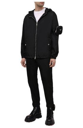 Мужская куртка PRADA черного цвета, арт. SGB740-1WQ8-F0002-202 | Фото 2