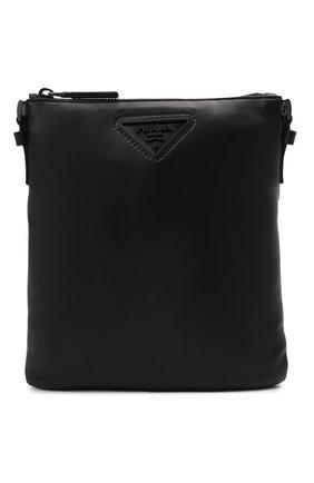 Мужская кожаная сумка PRADA черного цвета, арт. 2VH124-2DMF-F0002-OOO | Фото 1