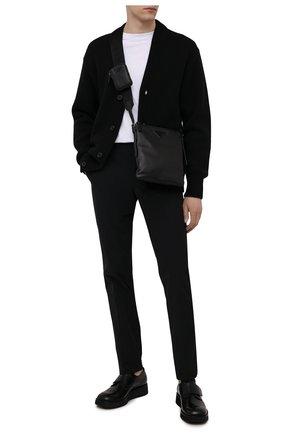 Мужская кожаная сумка PRADA черного цвета, арт. 2VH124-2DMF-F0002-OOO | Фото 2