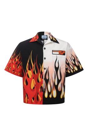 Мужская хлопковая рубашка PRADA разноцветного цвета, арт. UCS319-1X9M-F0P5N-182 | Фото 1