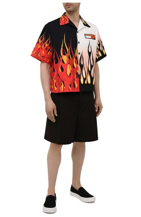 Мужская хлопковая рубашка PRADA разноцветного цвета, арт. UCS319-1X9M-F0P5N-182 | Фото 2
