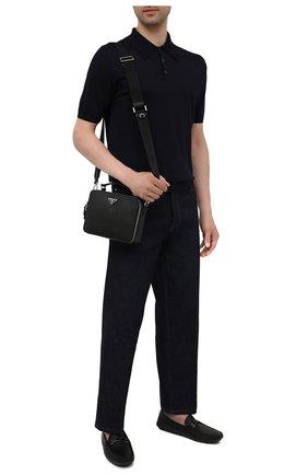 Мужская кожаная сумка brique PRADA черного цвета, арт. 2VH069-9Z2-F0002-YMI | Фото 2