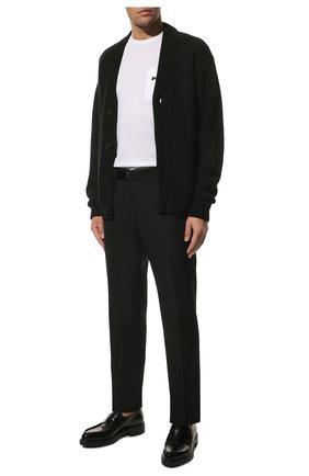 Мужской кашемировый кардиган PRADA черного цвета, арт. UMG053-1KVZ-F0002-211 | Фото 2