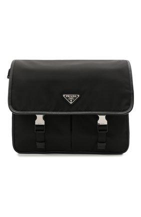 Мужская текстильная сумка PRADA черного цвета, арт. 2VD768-2DMH-F0002-OLO | Фото 1